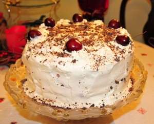 Jean's Black Forest Cake with brandy