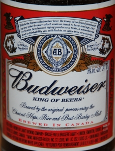 Budweiser close up
