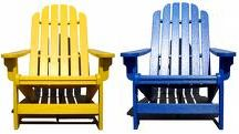 yellow & blue chairs