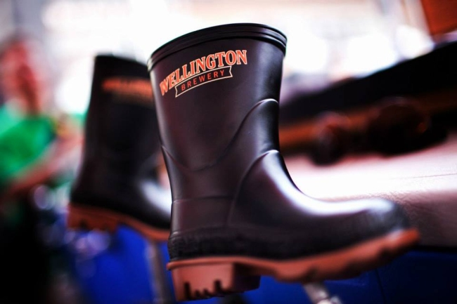 Wellington logo boot photo
