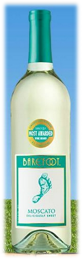 Best Bites Barefoot Wine Moscato bottle