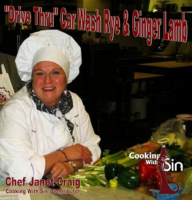 Abandonned car wash drive thru lamb cooking with sin Chef Janet Craig