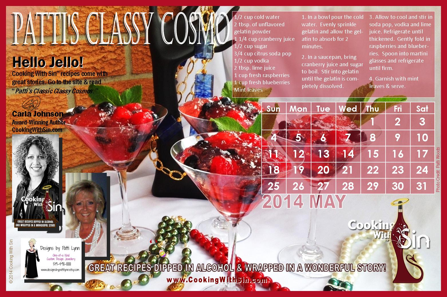 CWS Calendar 2014-05 Carla Johnson author Cooking With Sin