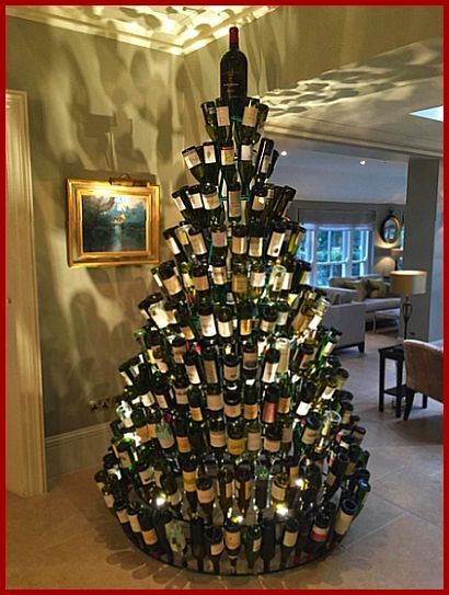 wine bottle christmas tree Cooking with Sin